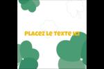 Trèfles en cœur de la Saint-Patrick Étiquettes carrées - gabarit prédéfini. <br/>Utilisez notre logiciel Avery Design & Print Online pour personnaliser facilement la conception.