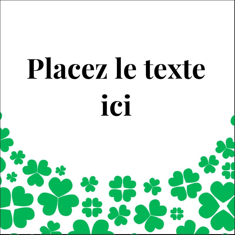 """2"""" x 2"""" Étiquettes carrées - Pluie de trèfles de la Saint-Patrick"""