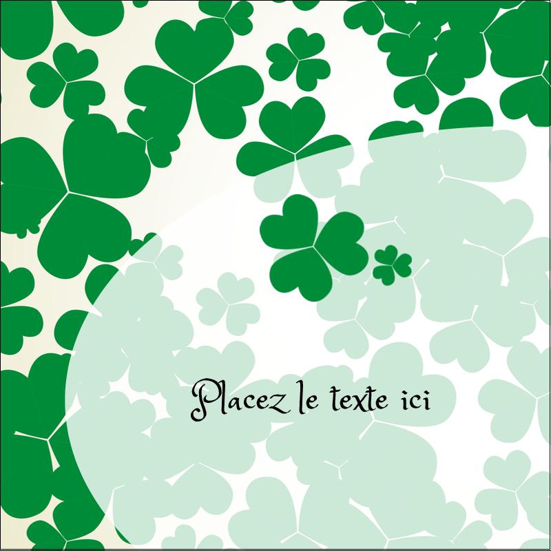 """2"""" x 2"""" Étiquettes carrées - Arrière-plan de trèfles de la Saint-Patrick"""