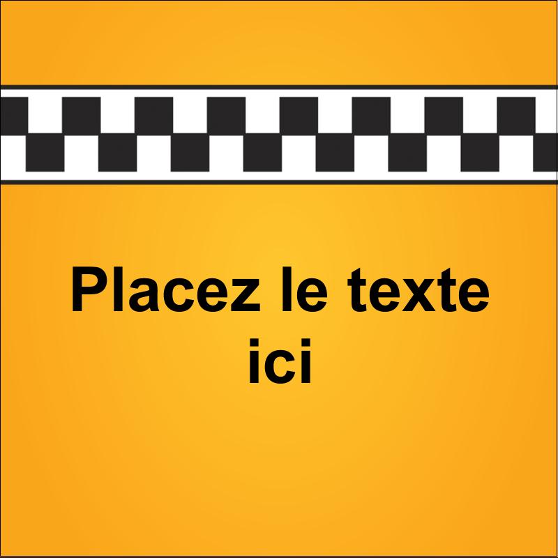 """2"""" x 2"""" Étiquettes carrées - Échiquier taxi"""
