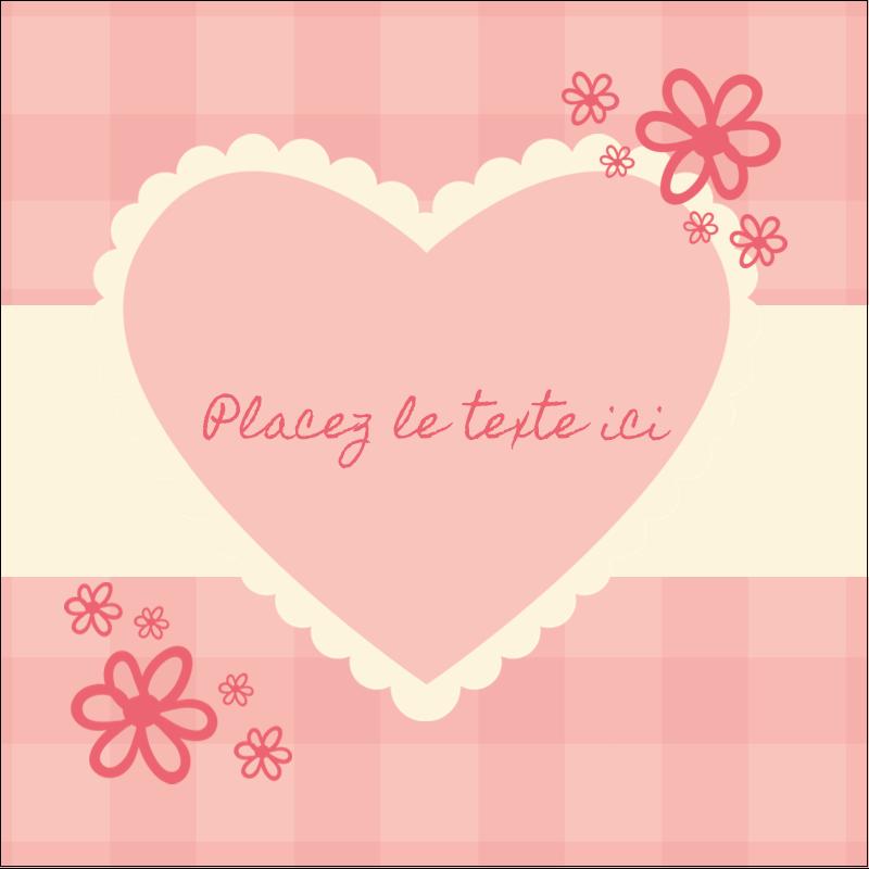 """2"""" x 2"""" Étiquettes carrées - Guingan de la Saint-Valentin"""