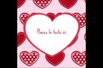 Cœur de Saint-Valentin Étiquettes carrées - gabarit prédéfini. <br/>Utilisez notre logiciel Avery Design & Print Online pour personnaliser facilement la conception.