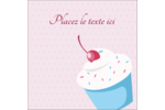 Petit gâteau aux cerises Étiquettes carrées - gabarit prédéfini. <br/>Utilisez notre logiciel Avery Design & Print Online pour personnaliser facilement la conception.