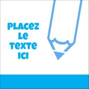 Crayon bleu ciel