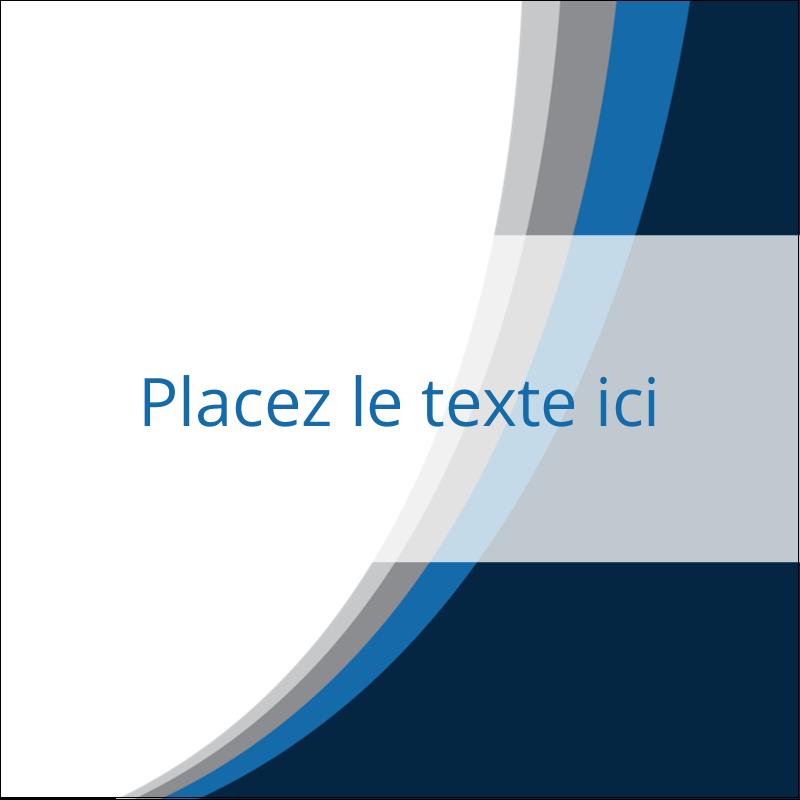 """2"""" x 2"""" Étiquettes carrées - Vague bleue"""
