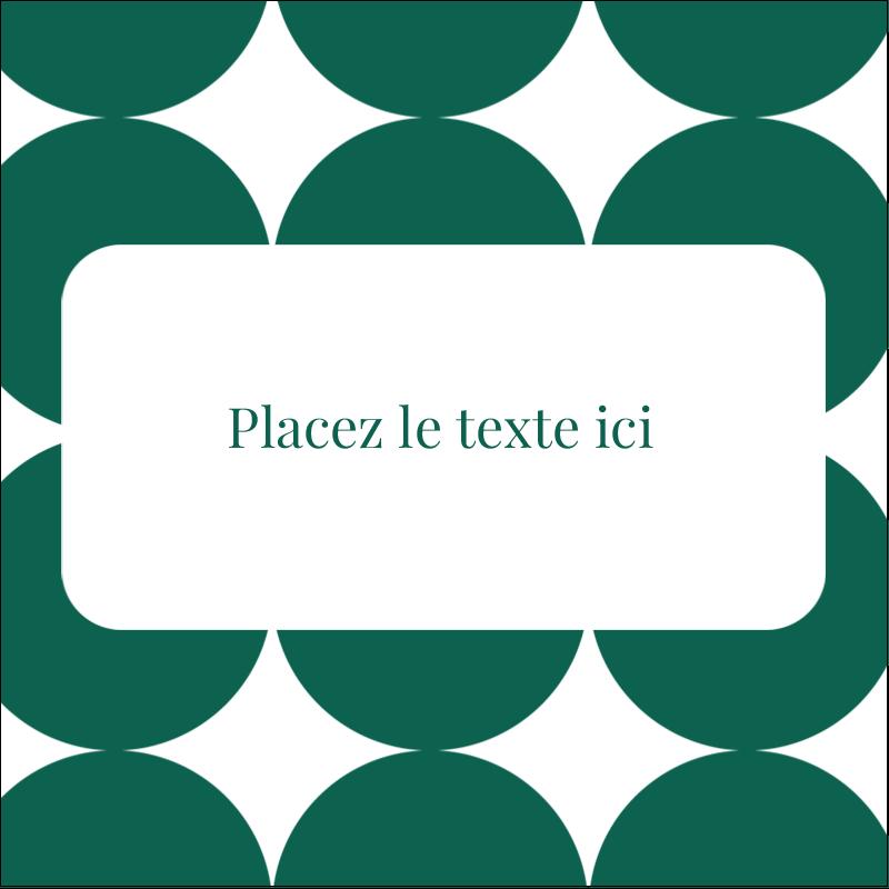 """2"""" x 2"""" Étiquettes carrées - Cercles vert sarcelle"""