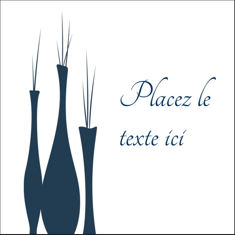 """2"""" x 2"""" Étiquettes carrées - Vase design d'intérieur"""