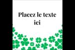 Pluie de trèfles de la Saint-Patrick Étiquettes carrées - gabarit prédéfini. <br/>Utilisez notre logiciel Avery Design & Print Online pour personnaliser facilement la conception.