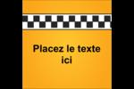 Échiquier taxi Étiquettes carrées - gabarit prédéfini. <br/>Utilisez notre logiciel Avery Design & Print Online pour personnaliser facilement la conception.