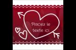 Dessin de la Saint-Valentin Étiquettes carrées - gabarit prédéfini. <br/>Utilisez notre logiciel Avery Design & Print Online pour personnaliser facilement la conception.