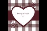 Guingan de la Saint-Valentin Étiquettes carrées - gabarit prédéfini. <br/>Utilisez notre logiciel Avery Design & Print Online pour personnaliser facilement la conception.