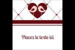 Oiseaux amoureux Étiquettes carrées - gabarit prédéfini. <br/>Utilisez notre logiciel Avery Design & Print Online pour personnaliser facilement la conception.