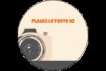 Appareil photo rétro Étiquettes rondes - gabarit prédéfini. <br/>Utilisez notre logiciel Avery Design & Print Online pour personnaliser facilement la conception.