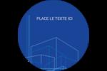 Plans de construction Étiquettes rondes - gabarit prédéfini. <br/>Utilisez notre logiciel Avery Design & Print Online pour personnaliser facilement la conception.