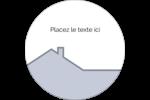 Construction de maison Étiquettes rondes - gabarit prédéfini. <br/>Utilisez notre logiciel Avery Design & Print Online pour personnaliser facilement la conception.