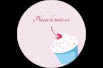 Petit gâteau aux cerises Étiquettes rondes - gabarit prédéfini. <br/>Utilisez notre logiciel Avery Design & Print Online pour personnaliser facilement la conception.