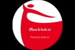 Danseuse rouge Étiquettes rondes - gabarit prédéfini. <br/>Utilisez notre logiciel Avery Design & Print Online pour personnaliser facilement la conception.