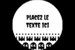 Fantômes Pac-Man d'Halloween Étiquettes rondes - gabarit prédéfini. <br/>Utilisez notre logiciel Avery Design & Print Online pour personnaliser facilement la conception.