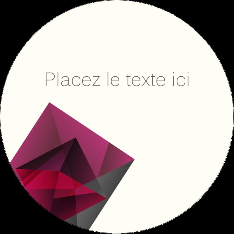 """2"""" Diameter Étiquettes rondes - Pierres de rubis"""