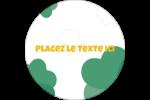 Trèfles en cœur de la Saint-Patrick Étiquettes rondes - gabarit prédéfini. <br/>Utilisez notre logiciel Avery Design & Print Online pour personnaliser facilement la conception.