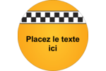 Échiquier taxi Étiquettes rondes - gabarit prédéfini. <br/>Utilisez notre logiciel Avery Design & Print Online pour personnaliser facilement la conception.