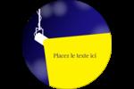 Projecteur sur fond bleu Étiquettes rondes - gabarit prédéfini. <br/>Utilisez notre logiciel Avery Design & Print Online pour personnaliser facilement la conception.