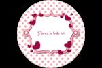 Bulles de Saint-Valentin Étiquettes rondes - gabarit prédéfini. <br/>Utilisez notre logiciel Avery Design & Print Online pour personnaliser facilement la conception.
