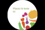 Panier de légumes Étiquettes rondes - gabarit prédéfini. <br/>Utilisez notre logiciel Avery Design & Print Online pour personnaliser facilement la conception.