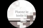 Carrés pixélisés Étiquettes rondes - gabarit prédéfini. <br/>Utilisez notre logiciel Avery Design & Print Online pour personnaliser facilement la conception.
