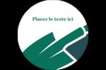 Pelle de jardin Étiquettes rondes - gabarit prédéfini. <br/>Utilisez notre logiciel Avery Design & Print Online pour personnaliser facilement la conception.