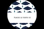 Mortiers de diplômés Étiquettes rondes - gabarit prédéfini. <br/>Utilisez notre logiciel Avery Design & Print Online pour personnaliser facilement la conception.