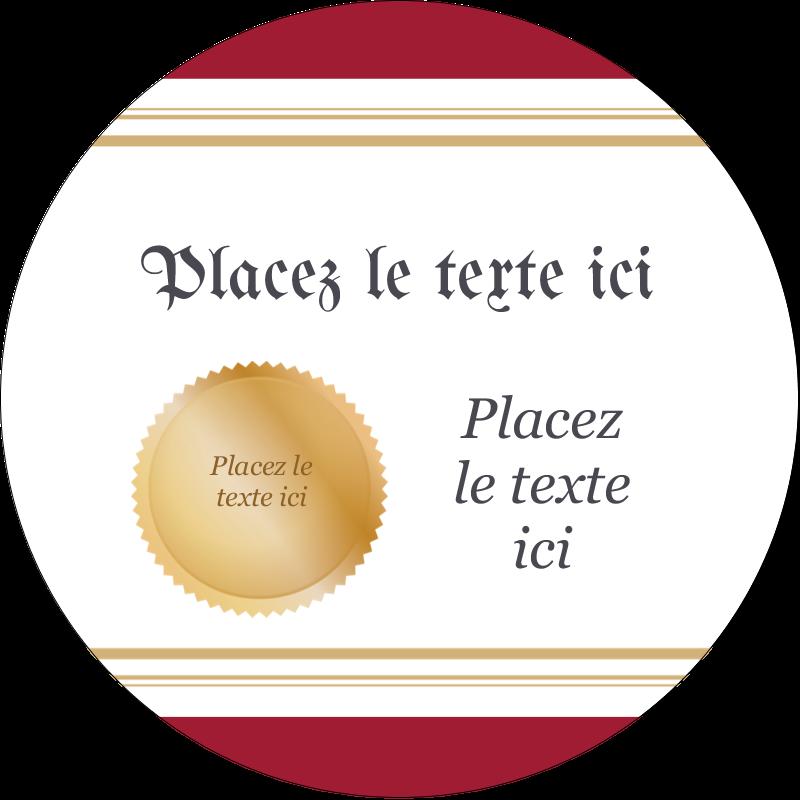 """2½"""" Diameter Étiquettes rondes - Diplôme d'études"""