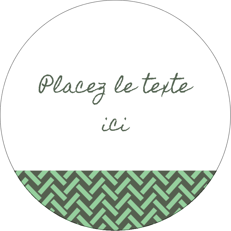 """2½"""" Diameter Étiquettes rondes - Trèfle de la Saint-Patrick"""
