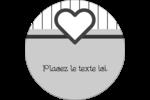 Cœur bleu Étiquettes rondes - gabarit prédéfini. <br/>Utilisez notre logiciel Avery Design & Print Online pour personnaliser facilement la conception.