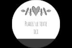 Dessin floral Étiquettes rondes - gabarit prédéfini. <br/>Utilisez notre logiciel Avery Design & Print Online pour personnaliser facilement la conception.