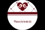 Oiseaux amoureux Étiquettes rondes - gabarit prédéfini. <br/>Utilisez notre logiciel Avery Design & Print Online pour personnaliser facilement la conception.