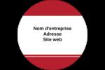 Barres de rangement rouges Étiquettes rondes - gabarit prédéfini. <br/>Utilisez notre logiciel Avery Design & Print Online pour personnaliser facilement la conception.