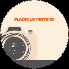 """2½"""" Diameter Étiquettes rondes - Appareil photo rétro"""