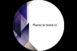 Prisme de verre Étiquettes rondes - gabarit prédéfini. <br/>Utilisez notre logiciel Avery Design & Print Online pour personnaliser facilement la conception.