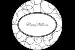 Gribouillis Étiquettes rondes - gabarit prédéfini. <br/>Utilisez notre logiciel Avery Design & Print Online pour personnaliser facilement la conception.