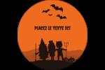 Enfants à l'Halloween Étiquettes rondes - gabarit prédéfini. <br/>Utilisez notre logiciel Avery Design & Print Online pour personnaliser facilement la conception.