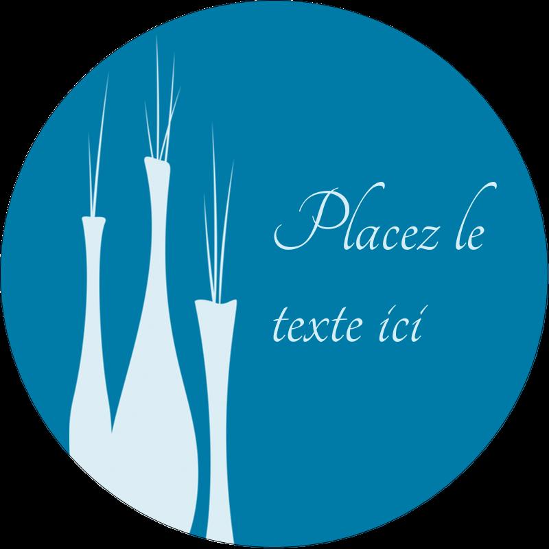 """2½"""" Diameter Étiquettes rondes - Vase design d'intérieur"""