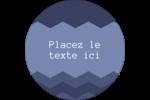 Chevron bleu Étiquettes rondes - gabarit prédéfini. <br/>Utilisez notre logiciel Avery Design & Print Online pour personnaliser facilement la conception.