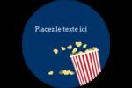 Popcorn et film Étiquettes rondes - gabarit prédéfini. <br/>Utilisez notre logiciel Avery Design & Print Online pour personnaliser facilement la conception.