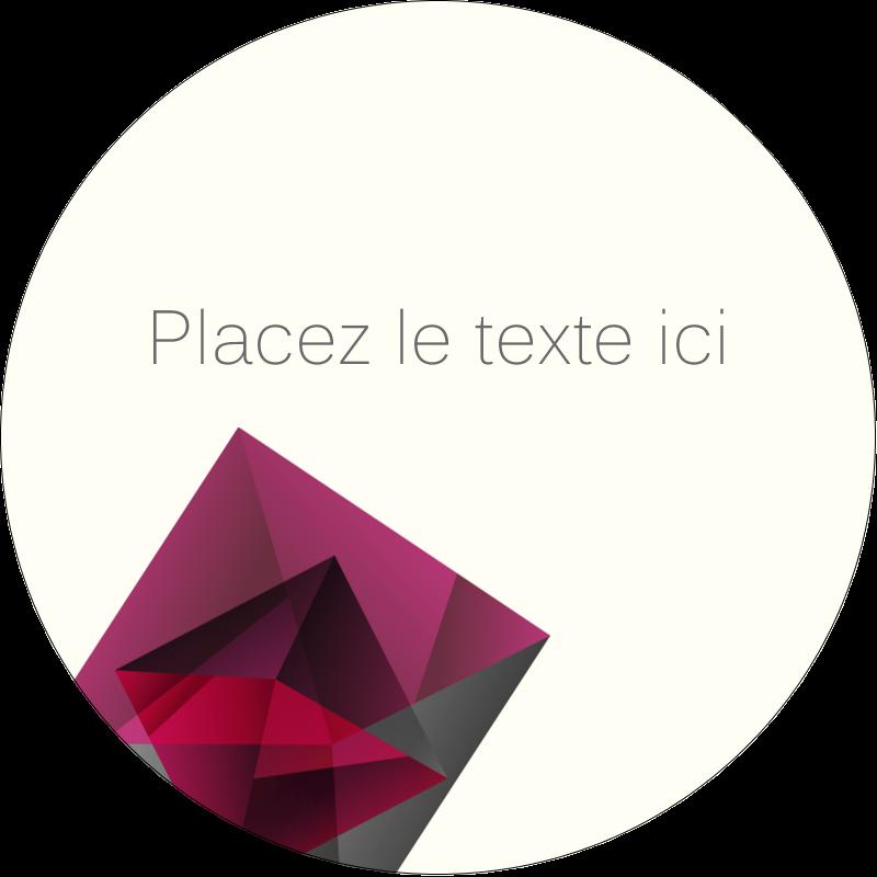 """2½"""" Diameter Étiquettes rondes - Pierres de rubis"""