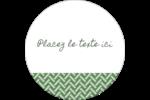 Trèfle de la Saint-Patrick Étiquettes rondes - gabarit prédéfini. <br/>Utilisez notre logiciel Avery Design & Print Online pour personnaliser facilement la conception.
