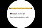 Ruban à mesurer Étiquettes rondes - gabarit prédéfini. <br/>Utilisez notre logiciel Avery Design & Print Online pour personnaliser facilement la conception.