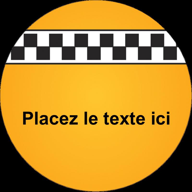 """2½"""" Diameter Étiquettes rondes - Échiquier taxi"""