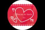 Dessin de la Saint-Valentin Étiquettes rondes - gabarit prédéfini. <br/>Utilisez notre logiciel Avery Design & Print Online pour personnaliser facilement la conception.