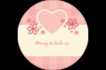 Guingan de la Saint-Valentin Étiquettes rondes - gabarit prédéfini. <br/>Utilisez notre logiciel Avery Design & Print Online pour personnaliser facilement la conception.